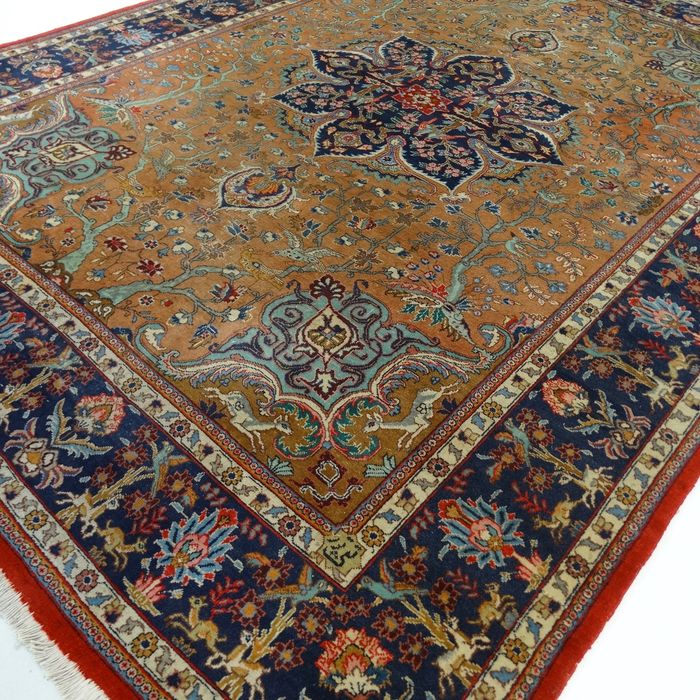 "Tabriz, 333 x 253 cm, ""Exclusive XL eye-catcher in camel/taupe, Persian rug in beautiful condition"""