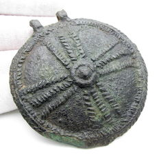 Large Saxon Period Military Phallera / Ornament with Large Cross - 70mm / 52.7 grams