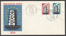 The Netherlands 1956 - FDC Europe Stamps - NVPH E27, with certificate
