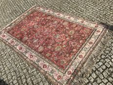 ANTIQ TURKISH Hand knotted SILK RUG KAYSERI 235x150 cm