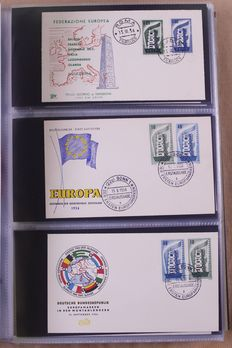 Europa Stamps 1956/1965 – Batch of First Day Covers in Davo album