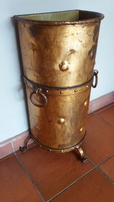 Gold-plated copper umbrella stand
