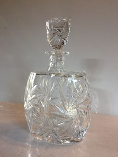 Large crystal whisky decanter