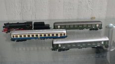 Märklin H0 - 3005 - Steam locomotive BR23 and 3 passenger carriages of the DB