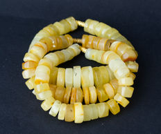 Baltic amber bracelets set of 3 pieces, butterscotch, egg yolk honey colour, 54 gram