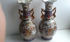 Pair of colourful vases – China – second half 20th century