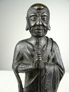 Bronze figure of Kasyapa - China - 17th century (Ming period) (1368 - 1644)