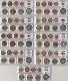 Finland - Year set of Euro coins 2005 through 2013, complete