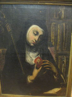 Mexican or Spanish colonial school (18th/19th c.) - Sor Juana Inés de la Cruz.