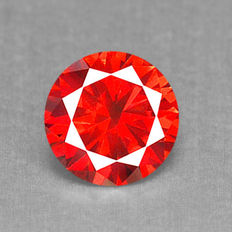 Excellent Rare Red Natural Diamond 0.18 Ct SI1