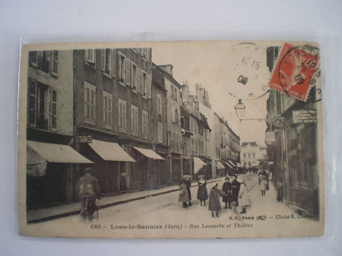Vintage postcards from France 84x; scenes of towns and villages