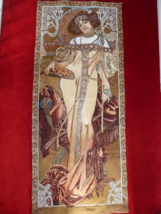 "Tapestry ""Automne"" from the series ""the seasons"" (1900) by Alphonse Mucha - Art Nouveau period -"