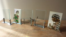 Lot of 6 chrome Art Deco picture frames