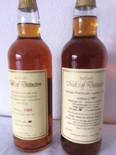 2 bottles - Macallan 1989 Malt's of Distinction
