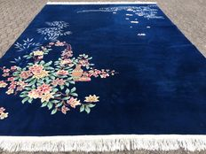 Beautiful blue CHINA carpet approx. 337 x 245 cm - end of the 20th century.