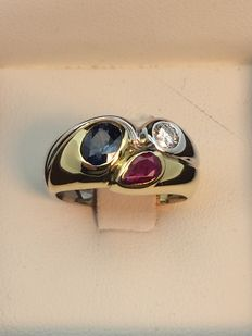 750 gold ring, size 52