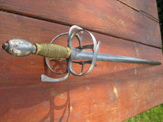 North German Rapier from the 17th century Schleswig-Holstein Corps Grenadier