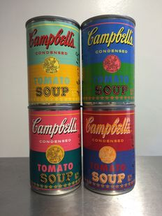 Andy Warhol (after) - 50th Anniversary Campbells soup tins cans