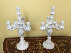 Pair of candle holders - Bassano