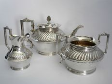 Three piece tea set, James Dixon & Sons, England, ca. 1915