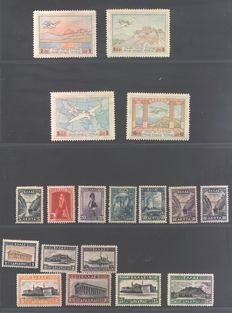 Greece - Series from the 1920s - Unificato PA 1/4 – 348/61 – 375/92