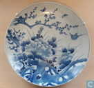 Antique ARITA blue and white charger 17,7""