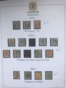 Luxembourg 1852/1978 – Broad collection with blocks and some postal items in a blank ringbinder.