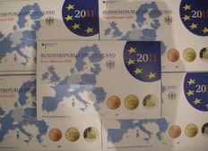 Germany – Year sets 2011 Proof (A-D-F-G-J) complete