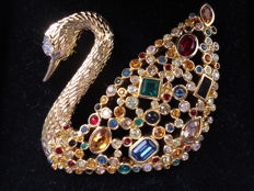 Swarovski broche 100 years centenary Swan
