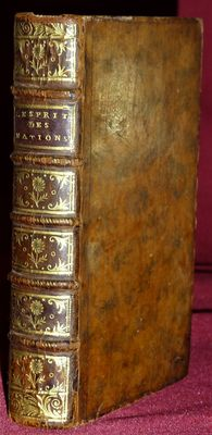 [François Ignace d'Espiard] - L'esprit des nations - 2 volumes in 1 binding - 1752