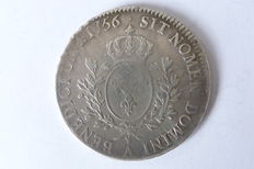 France - Louis XV - 1715-1774 Écu with band 1756-A Paris - Silver