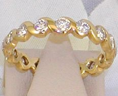 18k Diamond eternity ring, 1.60 ct. - size 52