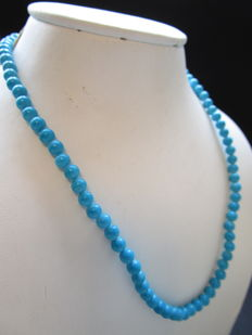 Turquoise women's necklace - 42 cm - never worn