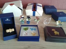 Swarovski - Swan - 3 Flowers - Ring - Chick - Giraffe - Box 4 items