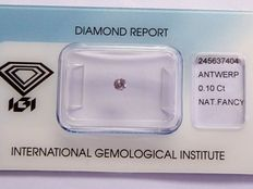 Natural fancy pink diamond 0.10 ct  with IGI certificate
