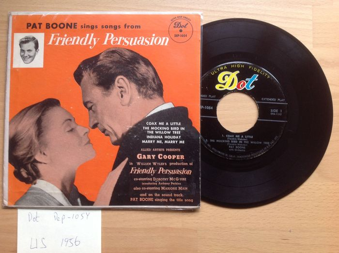 Pat Boone - Lot 13 x EP + 2 x single.   foto 15 A Date With Pat Boone/ Why did I Choose You/ Canada 1957/ Dot Dep-1055/ EP/EX.