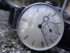 LEBOIS CO. & EXTRA-SWISS MADE Classic men's wristwatch, 1940s