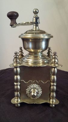 Beautiful crafted solid brass coffee grinder