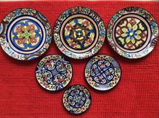 Pascual Zorrilla, hand painted plates