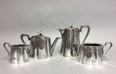 Victorian silver-plated tea and coffee service - Sheffield - England - ca. 1890