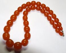 Vintage Baltic Amber necklace, orange butterscotch beads