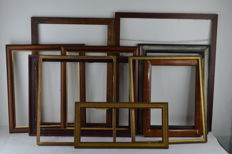 Lot of 10 frames - various sizes - 20th c.
