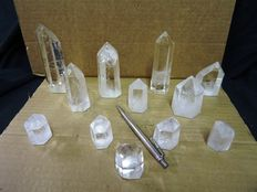 Crystal Points Collection - 4 to 11cm - 1,34kg (12)