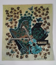 """Concerto"" Modernist Tapestry by Jean Picart Le Doux, France, Circa 1955,"
