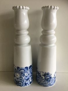 Marcel Wanders for Randstad- Two Delft blue tulip vases