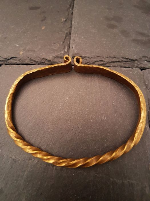 Viking Twisted and Stamped Bracelet - 75mm