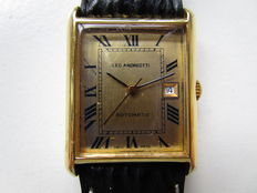 Leo Andreotti automatic - 'Classic Tank' plated Swiss men's wristwatch - 1970s