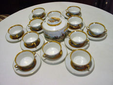C. P. Limoges - Consommé set with tureen
