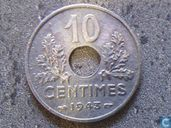 France 10 centimes 1943 (21 mm - thin flan)