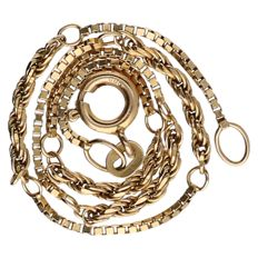 14 kt yellow gold Venetian/twisted link bracelet – Length: